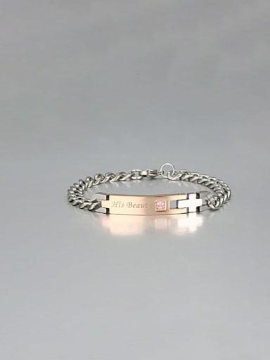 1 Titanium Smooth Minimalist Link Bracelet
