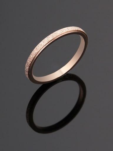 rose gold Titanium Steel yarn  Round Minimalist Ring