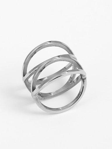 Titanium Irregular Trend Band Ring