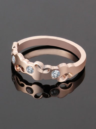 Titanium Heart Minimalist Band Ring