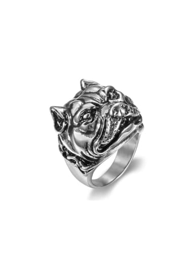 Titanium Dog Vintage Band Ring