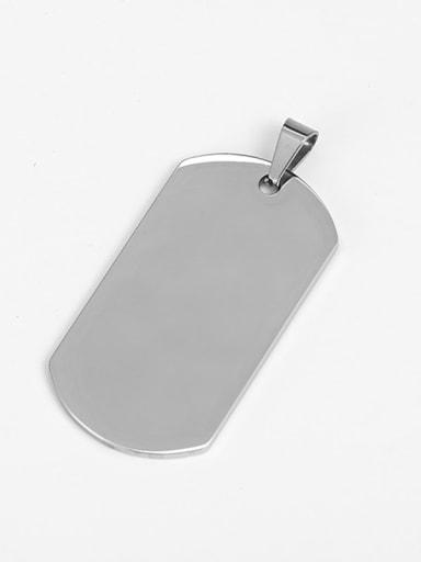 Man  (steel) Titanium Smooth Minimalist Geometric Pendant