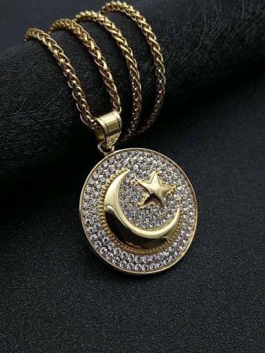 Titanium Rhinestone Star Hip Hop Initials Necklace