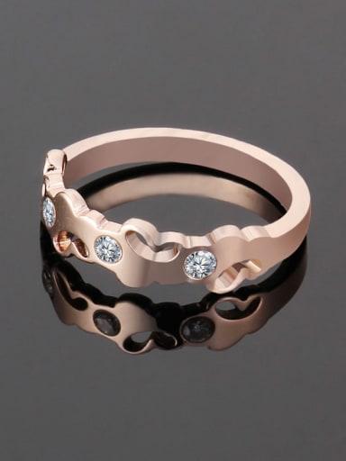 rose gold Titanium Heart Minimalist Band Ring