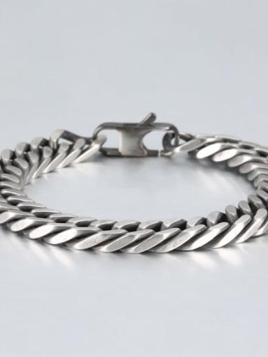 Retro (1cm wide) Titanium Geometry Minimalist Link Bracelet
