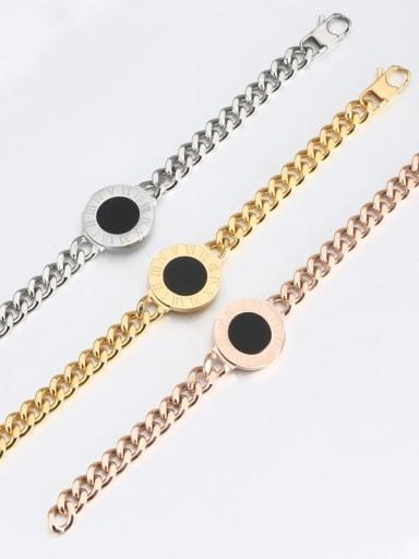 Titanium Number shell Luxury Bracelet