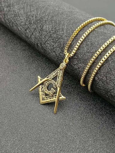 Titanium  letter Hip Hop Initials Necklace