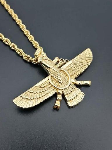 Gold single Pendant Titanium Wing Hip Hop Pendant
