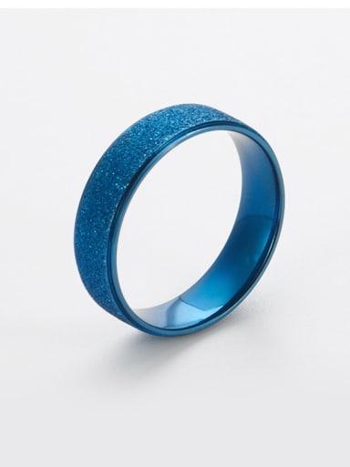 blue Titanium Gold dust Simple round Band Ring