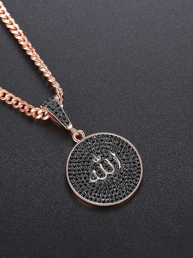 Copper Cubic Zirconia Round Hip Hop Necklace