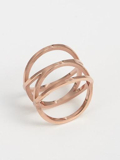 rose gold Titanium Irregular Trend Band Ring