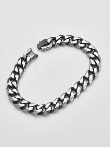 Retro 21cm Titanium  Minimalist Link Bracelet
