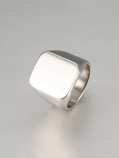 Steel color Titanium Square Minimalist Mens Ring