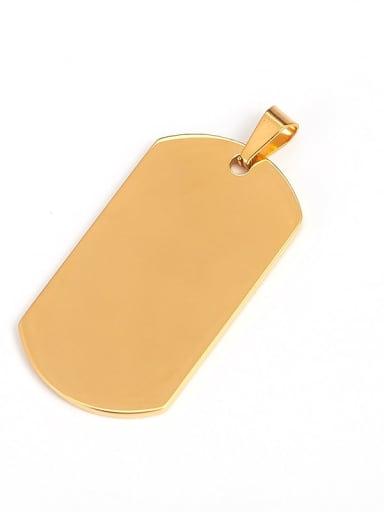Man  (gold) Titanium Smooth Minimalist Geometric Pendant