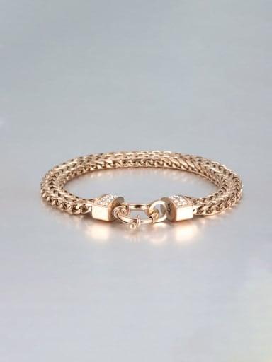 rose gold Titanium Double row Vintage Link Bracelet