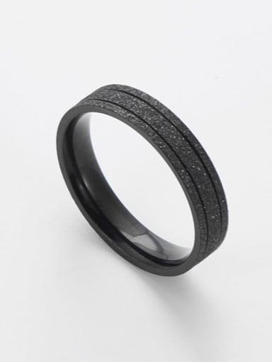 black Titanium Rosary Minimalist Band Ring