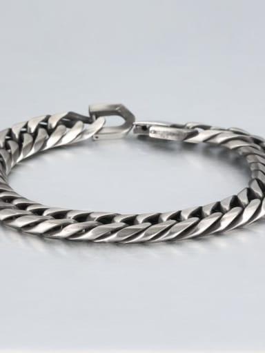 Retro (1.1cm wide) Titanium Geometric Minimalist Link Bracelet