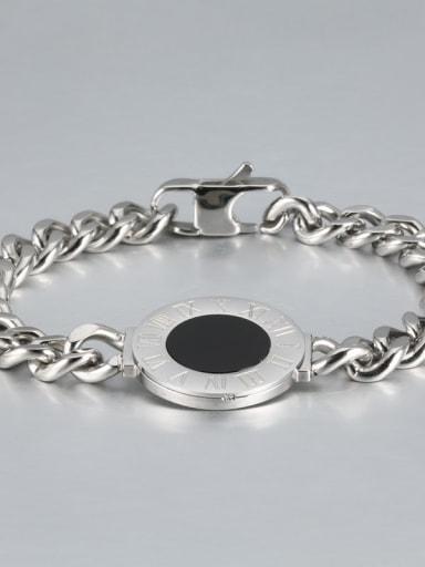 Steel color Titanium Number shell Luxury Bracelet