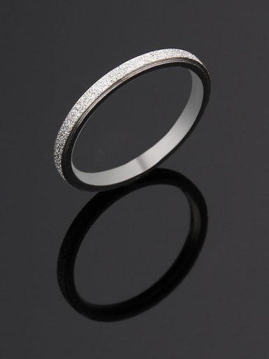 Titanium Round Minimalist Band Ring