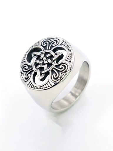 Titanium Viking Thor  Round Vintage Band Ring