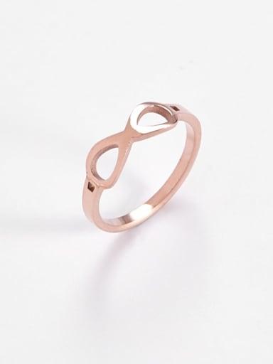 rose gold Titanium  Minimalist Hollow Nuber 8 Band Ring