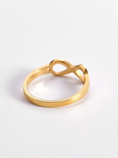 Titanium  Minimalist Hollow Nuber 8 Band Ring