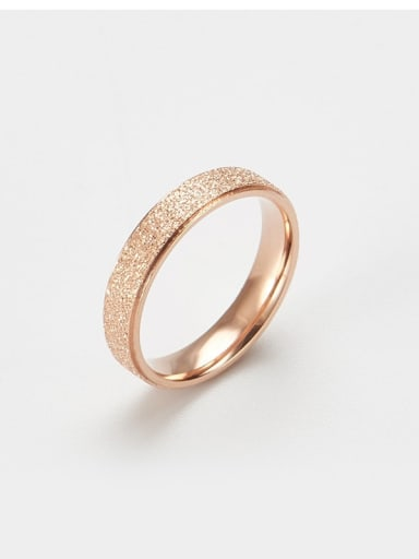 rose gold Titanium Gold dust Simple round Band Ring