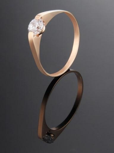 rose gold Titanium Round Minimalist Band Ring