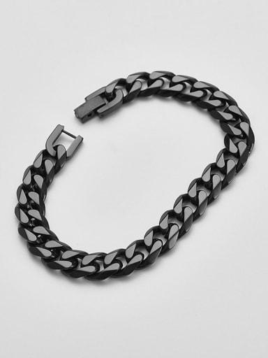 Black 21cm Titanium  Minimalist Link Bracelet