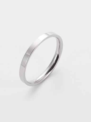 Steel color Titanium Round Minimalist Band Ring