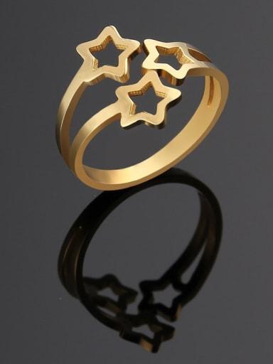 Titanium Hollow Star Minimalist Ring