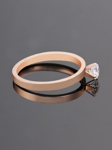 rose gold Titanium Rosary Minimalist Band Ring