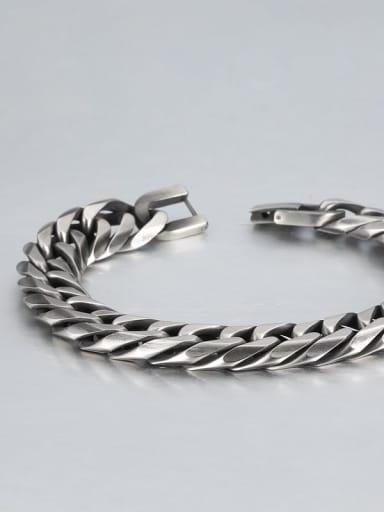 Retro (1.3cm wide) Titanium Geometric Minimalist Link Bracelet