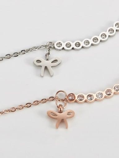 Titanium Bowknot Minimalist Necklace