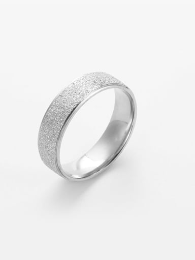 Steel color Titanium Gold dust Simple round Band Ring