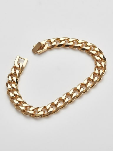 Gold 21cm Titanium  Minimalist Link Bracelet