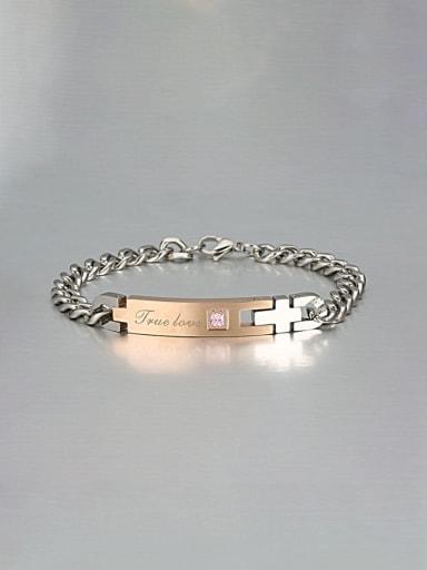 golden Titanium letter Minimalist Link Bracelet