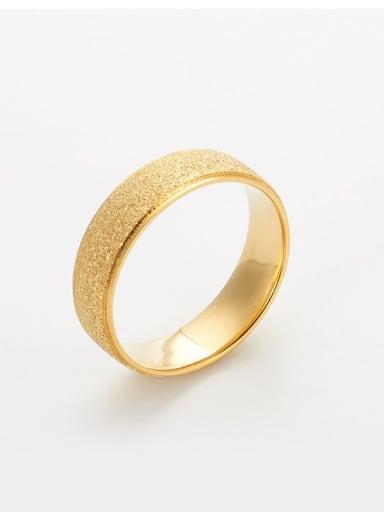 Titanium Gold dust Simple round Band Ring