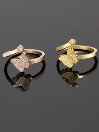 Titanium Simple butterfly  Band Ring