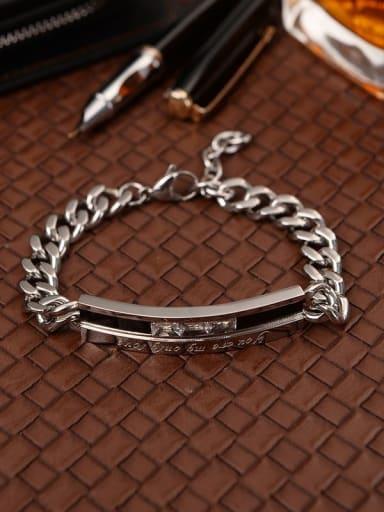 Titanium Minimalist geometry Link Bracelet