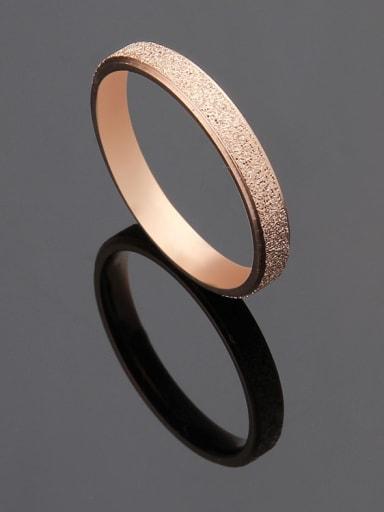 rose gold Titanium Rosary Minimalist Band Ring