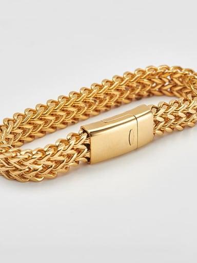 19cm gold Titanium Minimalist Link Bracelet