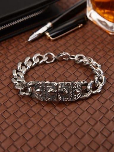 Titanium Cross Minimalist Bracelet