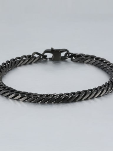 Black (0.6cm wide) Titanium+smooth Minimalist Chain