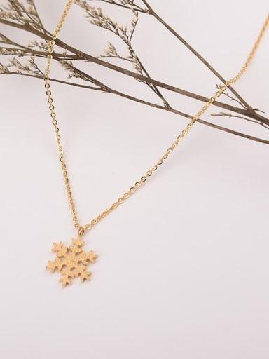 Titanium snowflakeLocket Minimalist  necklace