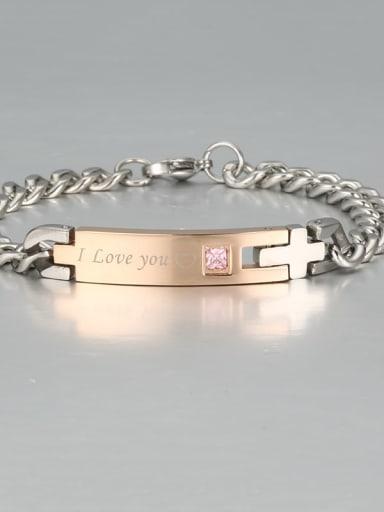 3 Titanium Smooth Minimalist Link Bracelet