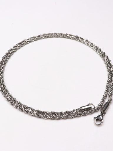 60cm steel color twist chain Brass Rhinestone Cross Vintage Regligious pendant Necklace