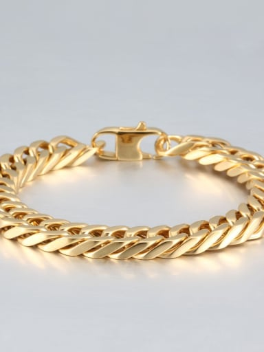 Gold (1cm wide) Titanium+smooth Minimalist Chain