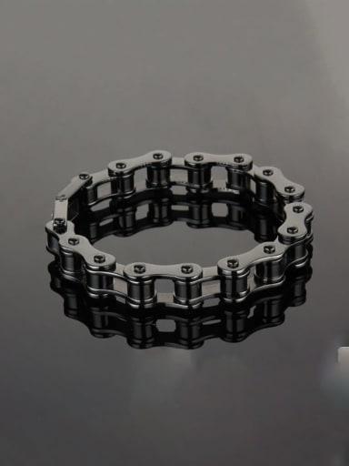 Titanium+smooth Minimalist Link Bracelet