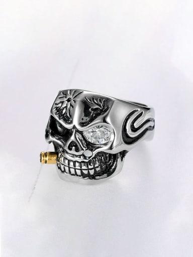 Stainless steel Skull Band Ring